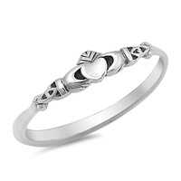 Sterling Silver Claddagh Ring 4MM