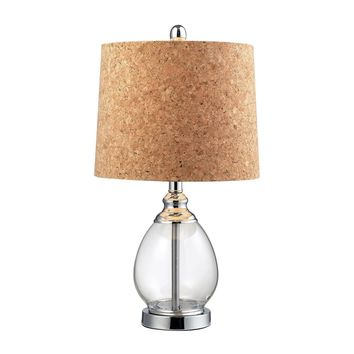 Clear Glass Table Lamp in Polished Chrome Clear