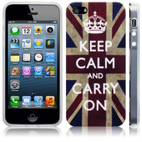 Keep Calm & Carry On Vintage Union Flag iPhone 5 Case