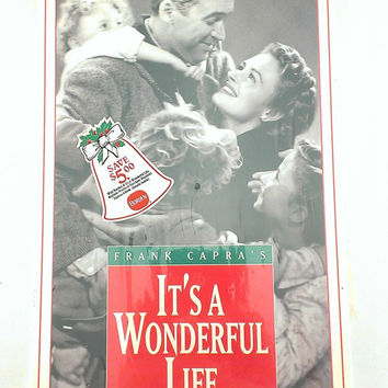 It's a Wonderful Life VHS Tape Starring James Stewart and Donna Reed NIB Frank Capra's Original Black and White Uncut Version Copyright 1993