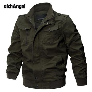 Trendy Military Jacket Men Winter Cotton Jacket Coat Army Men's Pilot Jackets Air Force Spring Cargo Jaqueta Man Jackets AT_94_13