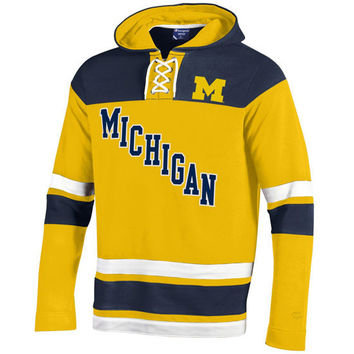 Champion University of Michigan Hockey Lace-Up Heritage Hooded Sweatshirt