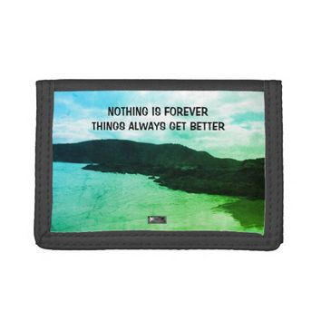 Forever Photo Quote by Kat Worth Trifold Wallets