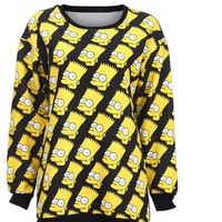 Bart Simpson Sweatshirt Cara Delevingne Inspired from Stunnah Style