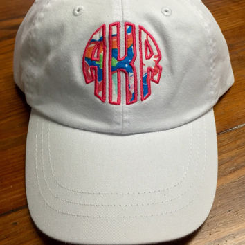 Lilly Pulitzer Monogrammed Hat