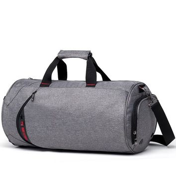 Sports gym bag Waterproof Men Sports Gym Bags New Women Yoga Fitness Training Bag Travel Luggage Handbag Outdoor Cylinder Training Duffle Bag KO_5_1
