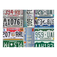 Colorado License Plate wall decal