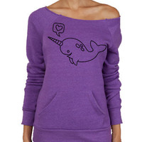 Narwhal Alternative Apparel Maniac Sweater