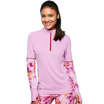 Duofold by Champion THERMatrix™ Women's 1/4 Zip Printed Pullover