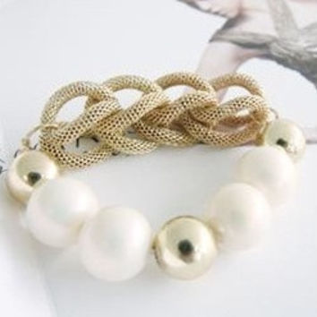 Fashion Candy Color Bracelet  Bangle Jewelry (Color: White) = 1839021060