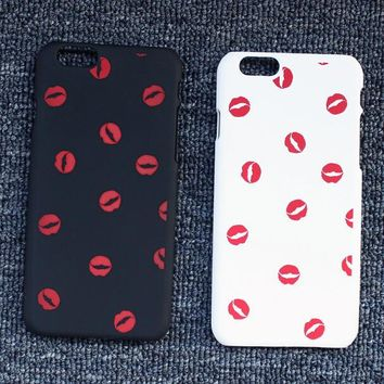 lip print case cover for iphone 5s 6 6s plus gift 198  number 1