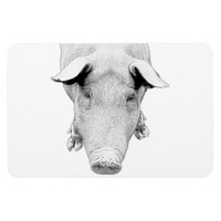 The Hog in Black and White Magnets