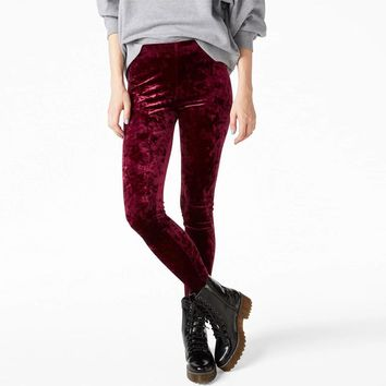 women crushed velvet legging high elastic waist velvet legging many colors for you