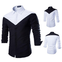 Black and White Designer Men's Shirt