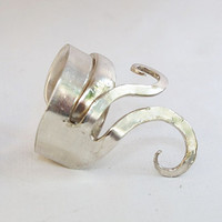 Sail the Seven Seas Vintage Find Cake Fork Ring by helendesign