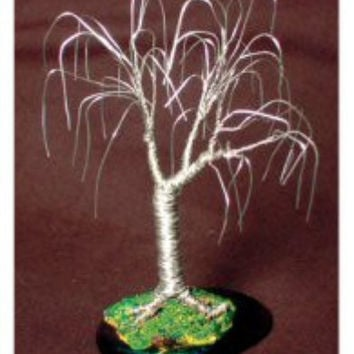 Wire Bonsai Mini Tree Sculpture