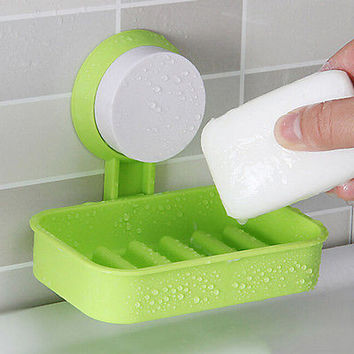 MultiColor Home Hotel Travel Soap Dish Tray Wall Holder Storage Box HU