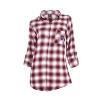 New England Patriots Forge Ladies Flannel Long Sleeve Top