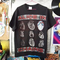 ALICE IN CHAINS // Vintage 90s Grunge Heart Concert Shirt, M
