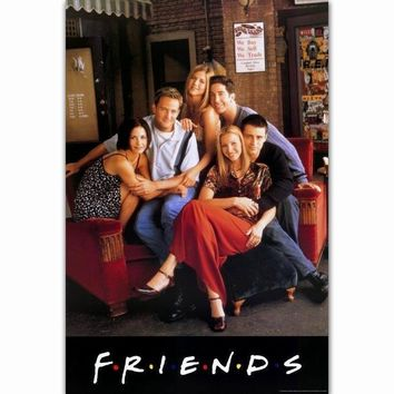 MQ2915 Hot FRIENDS US Classic TV Series Show Hot Art Poster Top Silk Canvas Home Decor Picture Wall Printings