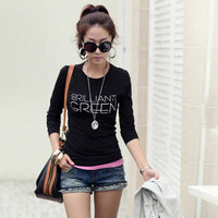 Casual Women T Shirt Women Tops Long Sleeve O Neck Bottoming Party Clothing Ropa Mujer Plus Size GS