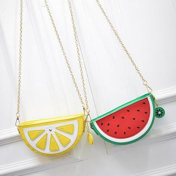 Bolsa Cupcake Women Bag Girl Messenger Bags lemon Women Leather Handbags Watermelon Clutch Bolsa Feminina Bolsas Feminina 148