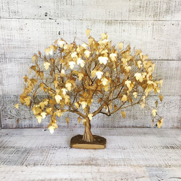 Br Tree Large Mid Century Dream Je Tramel Gold Metal Sculpture Of