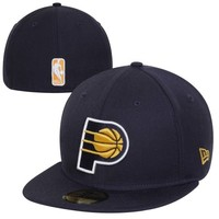 New Era Indiana Pacers 59FIFTY Team Logo Fitted Hat - Navy Blue