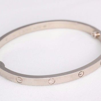 Cartier 18kt White Gold Love Bracelet - Size 15