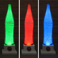 Vintage 1970's 16oz Coke Coca Cola Color Changing Remote Control LED Bottle Lamp