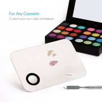 1set Stainless Steel Cosmetic Palette Spatula Pro Makeup Artist Tools for Mix Foundation Eye shadow lip powder easy use plate
