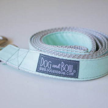 Pale Mint Dog Leash by Dog and Bow