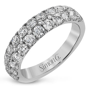 Simon G. Pave Diamond Two Row Right Hand Ring