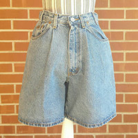 Vintage Calvin Klein Jean Shorts, High Waisted, Pleated Denim Shorts, 90s Grunge, Mom Jeans, 1990s Clothing, Hip Hop Clothes, CK, Size 6