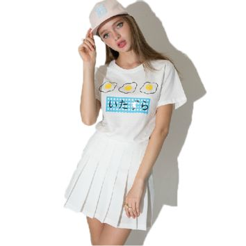 Japanese Fried Egg Print T-shirt