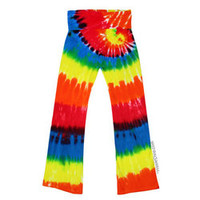 Rainbow Spiral Yoga Tie Dye Pants on Sale for $29.95 at The Hippie Shop