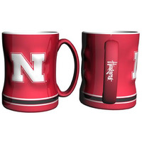 Nebraska Cornhuskers NCAA Coffee Mug - 15oz Sculpted (Single Mug)
