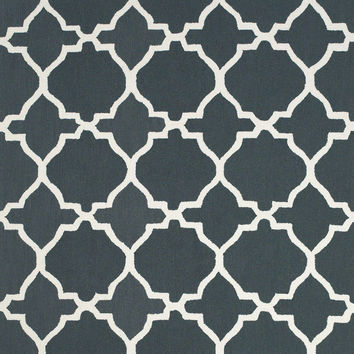 Amalfi Collection Hand Hooked Wool Area Rug in Gray and White by BD Fine