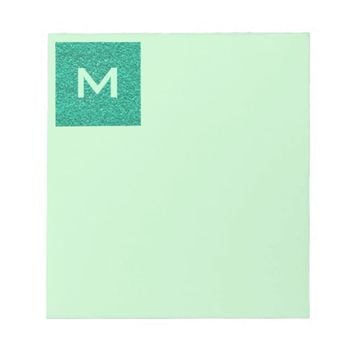 Pretty Teal Plaster Texture Notepad