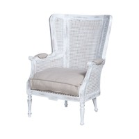 Chelsea Wing Back Chair Front Porch White