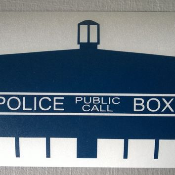 Doctor Who Tardis Top - Vinyl Decal Sticker
