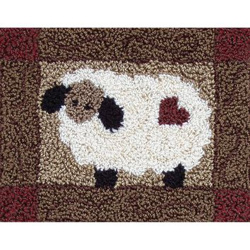 "Sheep  Rachel's of Greenfield Punch Needle Kit 3.75""X4"""