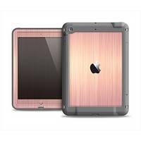 The Rose Gold Brushed Surface Apple iPad Air LifeProof Fre Case Skin Set