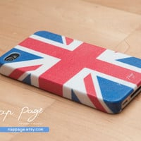 iphone 4 case , iphone 4s case , case for Iphone 4 Blackberry mobile Case handmade: UK flag