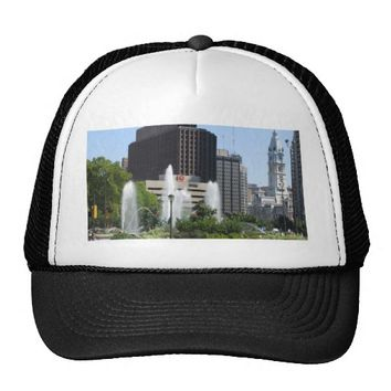 Fountain in Philadelphia Trucker Hat