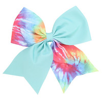 Mint & Tie Dye Cheer Hair Bow