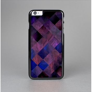 The Dark Purple Highlighted Tile Pattern Skin-Sert for the Apple iPhone 6 Skin-Sert Case