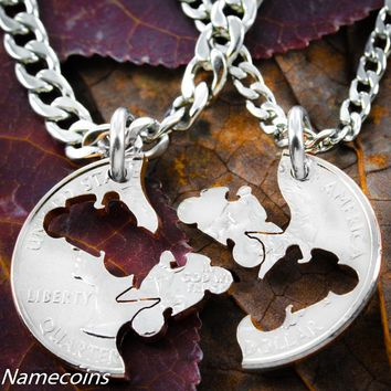 Biker Jewelry, Matching Motorcycle Coin Necklace Set by NameCoins