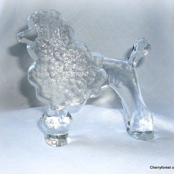 "Scandinavian glass, Sweden. Kosta Boda "" zoo series"", Poodle by Erik Höglund. Paperweigt / ornament."