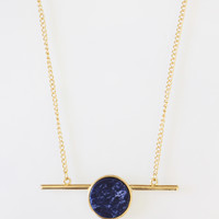 Indigo Marble Short Necklace